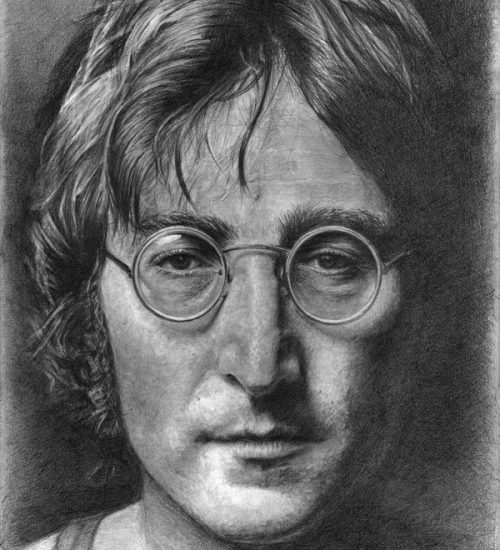 Portrait of John Lennon, Captured in Pencil