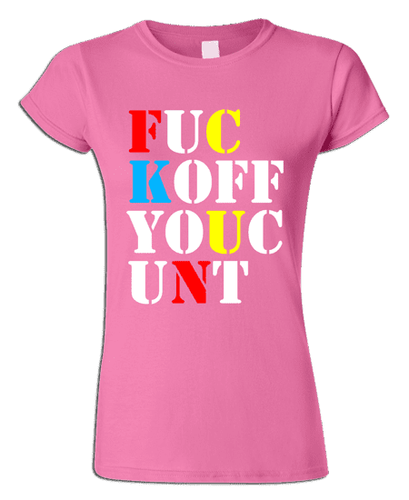 Stone Roses T-Shirt featuring the words F**K OFF YOU C**T as seen on Mani from The Stone Roses