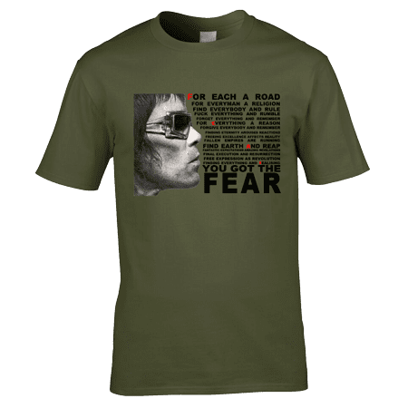 Fear T-Shirt featuring a pencil drawing by Mark Reynolds