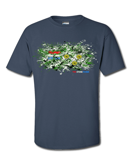 This Stone Roses Splatter T-Shirt has been designed by Mark Reynolds. It features a mixed media drawing and is inspired by Jackson Pollock and John Squire paintings.