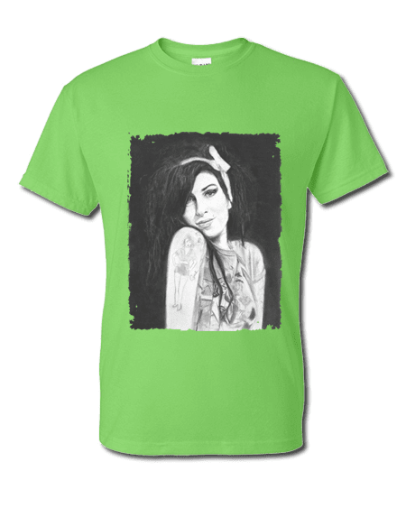 Amy Winehouse T-Shirt featuring pastel artwork by Mark Reynolds