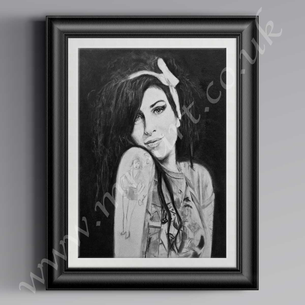 This open edition portrait of Amy Winehouse is captured in pastel. Available in A1, A2 & A3.