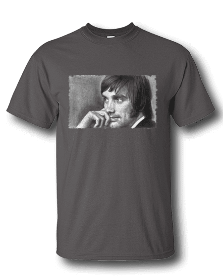 George Best T-Shirt featuring a pencil drawing by Mark Reynolds