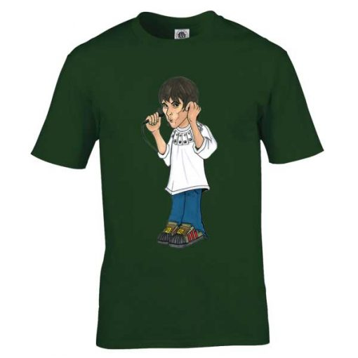Ian Brown King Monkey T-Shirt featuring artwork by Mark Reynolds. This Ian Brown King Monkey T-Shirt is exclusive to Mr Art in a range of colours and sizes