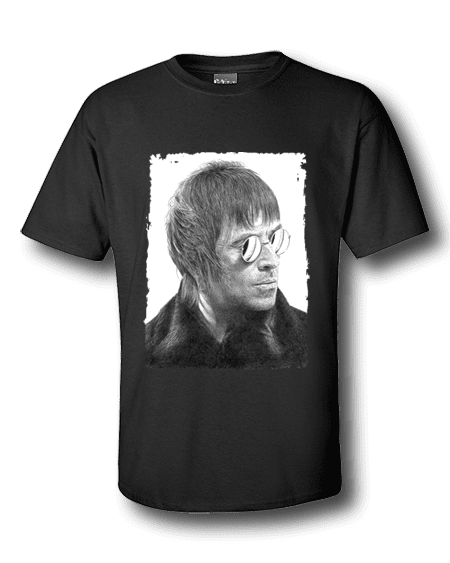 Liam Gallagher T-Shirt featuring pastel drawing by Mark Reynolds