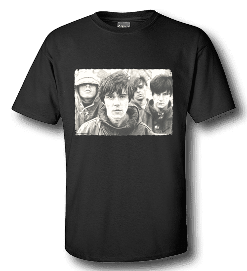 Mens-black-stone-roses t-shirt