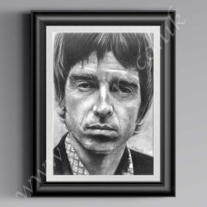Noel Gallagher drawing in pencil available in a1, a2and a3 prints.