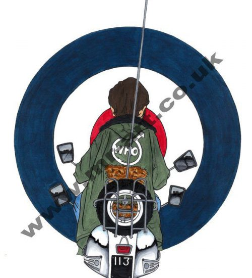 Cartoon inspired Jimmey Quadrophenia prints
