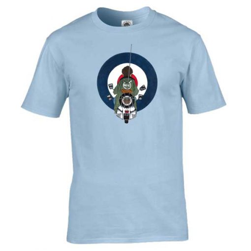 Jimmy Quadrophenia T-Shirt featuring Jimmy, one of the main characters in the Quadrophenia film. Available in a wide range of colours and sizes