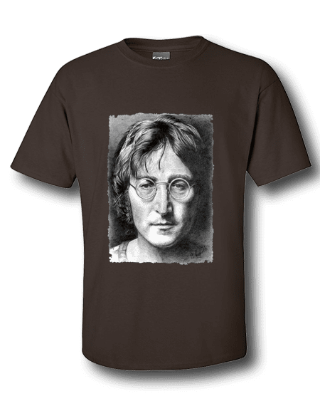 John Lennon T-Shirt featuring a pencil drawing by Mark Reynolds