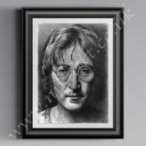 This open edition portrait of John Lennon is captured in pencil. Available in A1, A2 & A3 Prints.