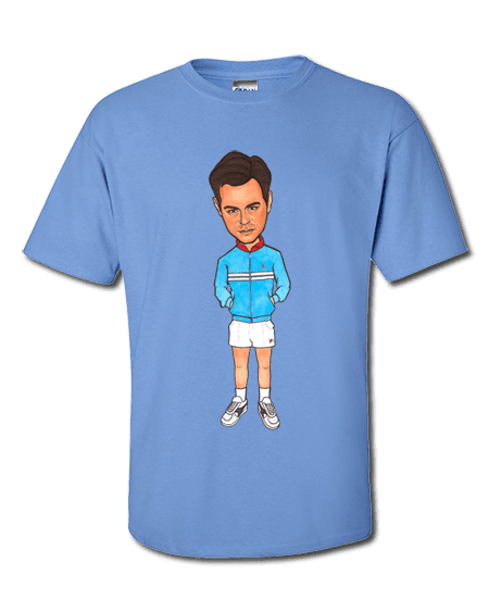 Art-Wear T-Shirt featuring cartoon Danny Dyer inspired by The Business