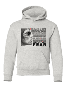 Fear Hoodie featuring a pencil drawing by Mark Reynolds