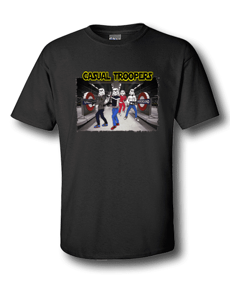 Art-Wear Cartoon T-Shirt featuring Casual Storm Troopers