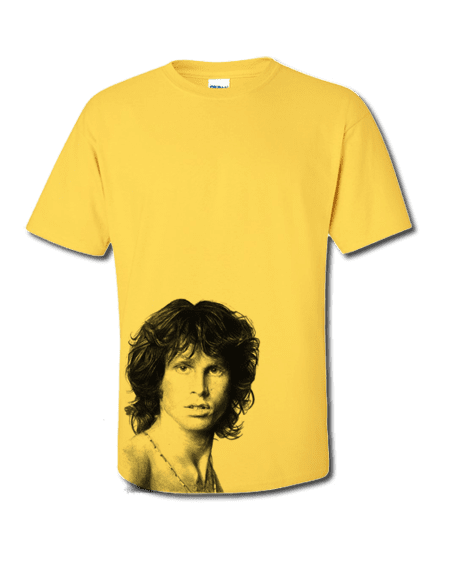 Bespoke ART-WEAR T-Shirt featuring The Doors lead singer Jim Morrison.