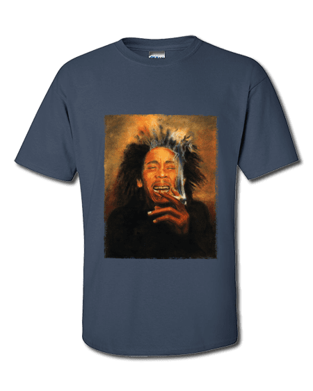 Bob Marley Smoking T-Shirt exclusive to MR-ART