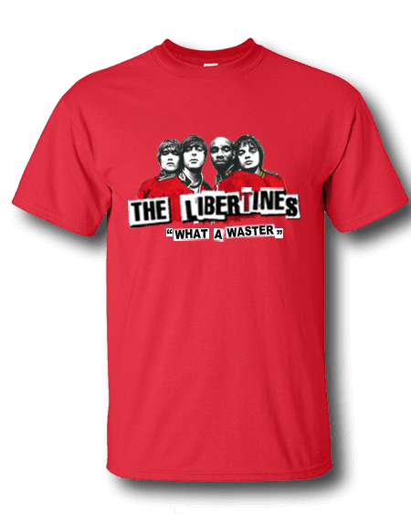 Libertines Festival T-shirts available in a range of colours