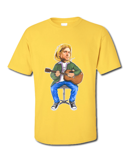 Kurt Cobain T-Shirt drawn by Mark Reynolds