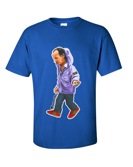 Massimo Osti T-Shirt drawn by Mark Reynolds