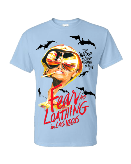 Fear and Loathing in Las Vegas T-Shirt featuring pencil drawing by Mark Reynolds
