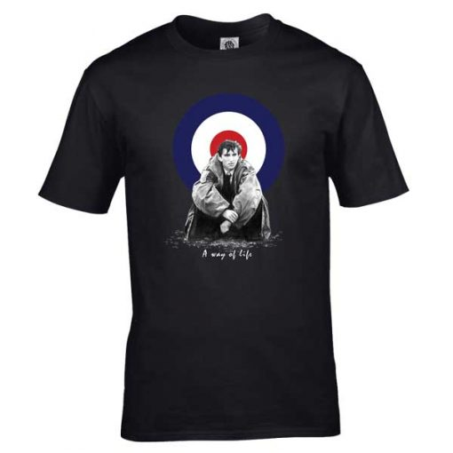 Bespoke Quadrophenia T-Shirt, from original artwork by Mark Reynolds. Available in a range of colours and sizes. Perfect to update your MOD look!