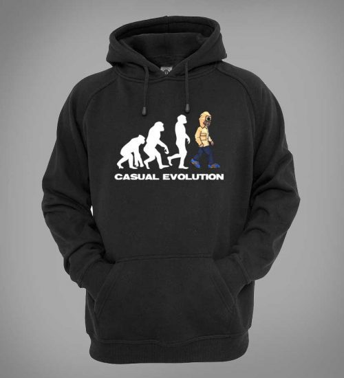 This Casual Evolution T-Shirt, designed by Mark Reynolds, is available in a range of different colours and sizes