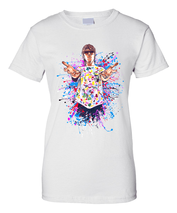 Ian Brown God Like Genius T-Shirt Ladies