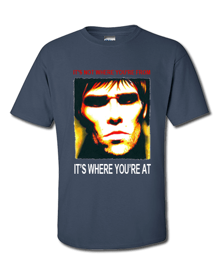 Ian Brown Monkey Business T-Shirt featuring artwork by Mark Reynolds. This T-Shirt is exclusive to Mr Art in a range of colours and sizes