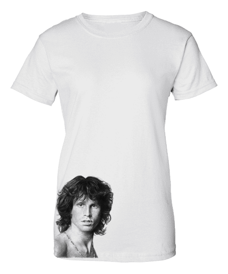 Bespoke T-Shirt featuring The Doors lead singer Jim Morrison.