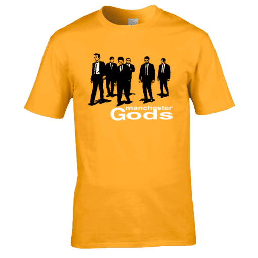 This Manchester Gods drawing inspired by Reservoir Dogs has been drawn and designed by Mark Reynolds.