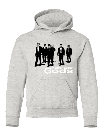 Manchester Gods Hoodie in Light Oxford