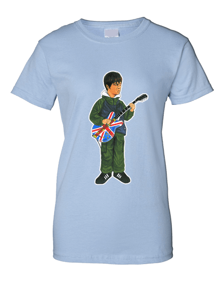 Noel Gallagher Cartoon Union Jack T-Shirt