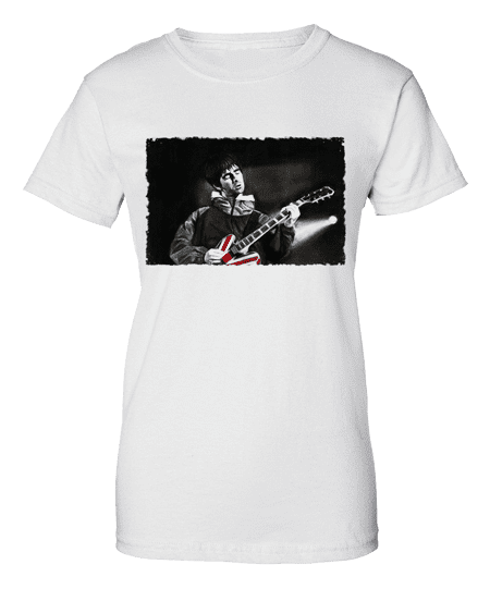 Noel Gallagher Union Jack Guitar T-Shirt designed by Mark Reynolds