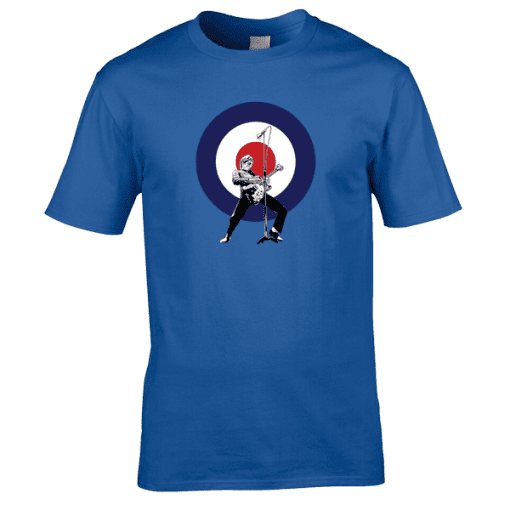 This Paul Weller The Jam T-Shirt, designed by Mark Reynolds, is available in a range of different colours and sizes