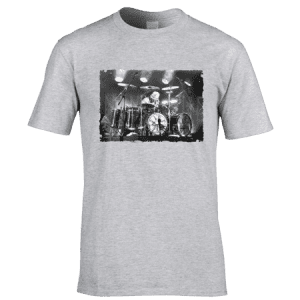 This Reini- Bangs The Drum T-Shirt by Mark Reynolds, is available in a range of different colours and sizes