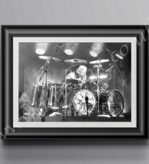 Limited Edition of 200 Reni- Bangs The Drum Print. Available in a range of sizes