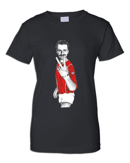 T-Shirt featuring cartoon Begbie inspired by the film Trainspotting