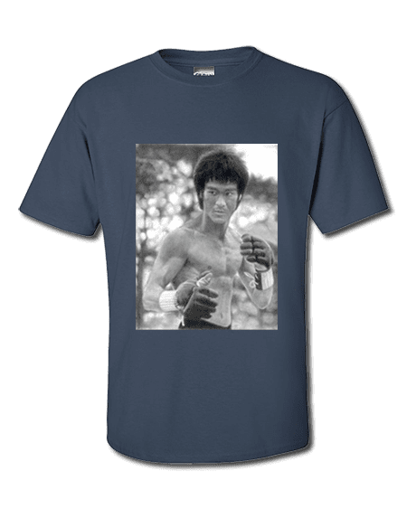 Bruce Lee T-Shirt featuring a pencil drawing by Mark Reynolds. Available in a wide range of colours and sizes