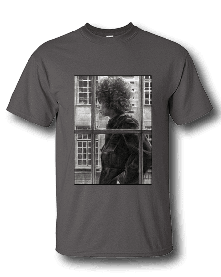 Bob Dylan T-Shirt by Mark Reynolds aka Mr Art. Available in a range of colours and sizes