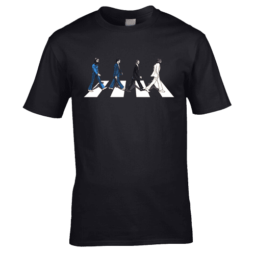 The Beatles Abbey Road T-Shirt. Available in a range of colours and sizes