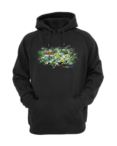 This Stone Roses Splatter Hoodie has been designed by Mark Reynolds. It features a mixed media drawing and is inspired by Jackson Pollock and John Squire paintings.