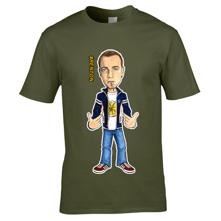 Exclusive Renton Trainspotting T-Shirt inspired by the film Trainspotting and designed by artist Mark Reynolds.
