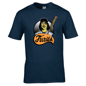 The Baseball Furies T-Shirt featuring the gang leader Cobb. This design has been drawn in pen and ink and is available in a range of colours and sizes.