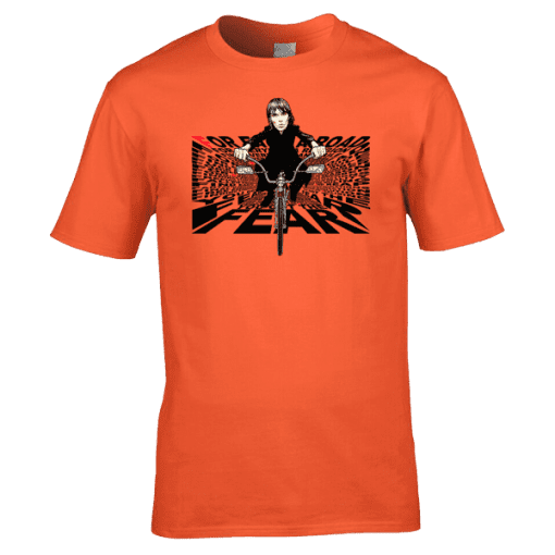 Ian Brown For Each A Road T-Shirt featuring Ian Brown on a Lowrider and the lyrics from the song FEAR