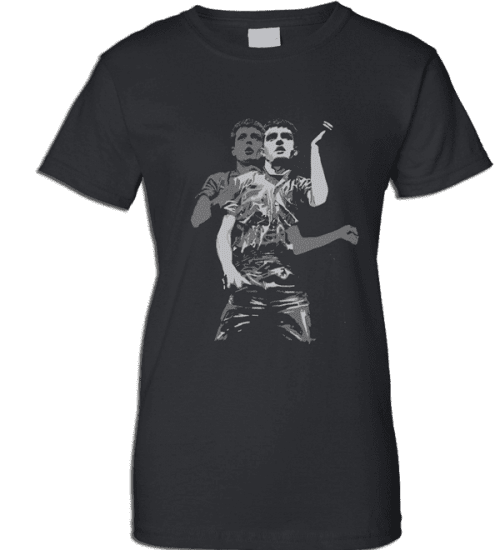 This Ian Curtis Transmission T-shirt has been drawn by Mark Reynolds. This T-Shirt is available in a wide range of sizes. It is exclusive to Mr Art and can only be purchased from this website.