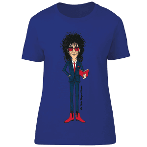 This Dr John Cooper Clarke T-Shirt is available in a wide range of colours and sizes. It has been hand drawn in pen by Mark Reynolds and is exclusive to Mr Art.