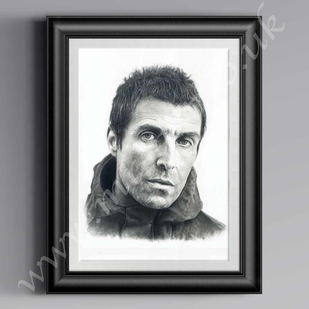 Liam Gallagher Pencil Drawing