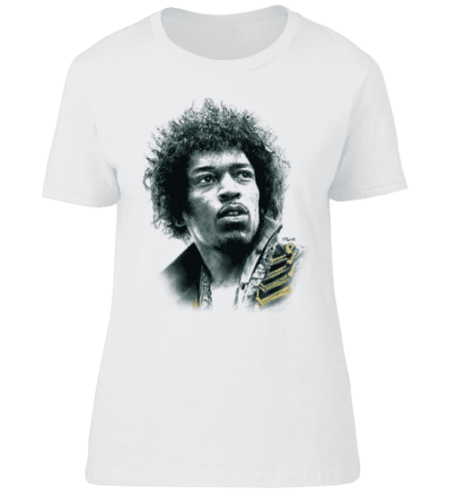 Exclusive Jimi Hendrix T-Shirt drawn in charcoal by Mark Reynolds. Now available from Mr Art in a range of colours and sizes.