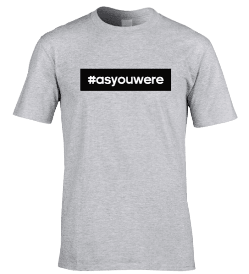 This As You Were T-Shirt has been designed by artist Mark Reynolds. This T-Shirt is available in a wide range of colours and sizes.