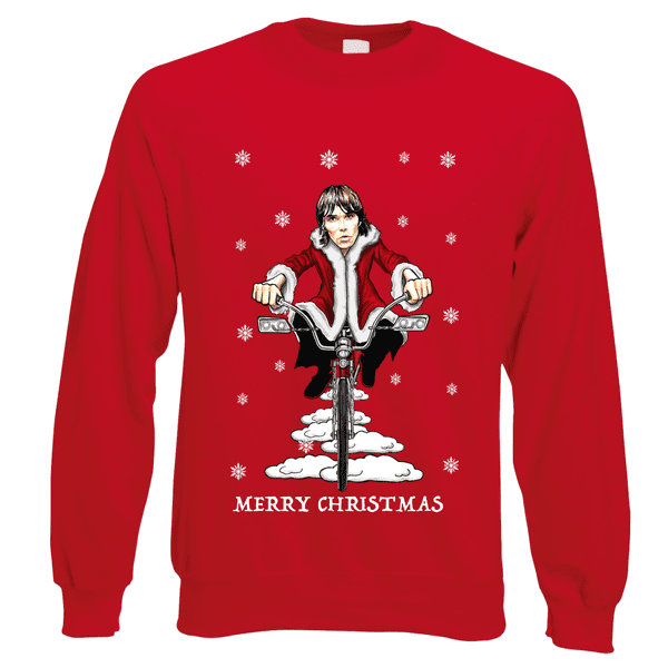 Ian-Brown-Low-Rider-Christmas-Jumper-in-red